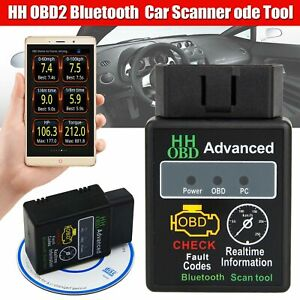 Obdii Advanced Bluetooth Hh Obd2 Car Scanner Android Torque Diagnostic Tool Us