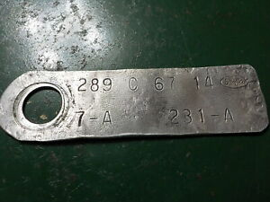 Ford Engine Id Tag 289 Date January 1967 C Code 2v 1967 Mustang Falcon