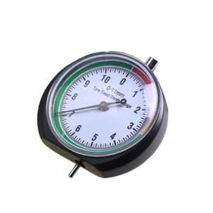 Round Dial Portable Stainless Tire Tyre Pressure Tread Depth Gauge Indicator