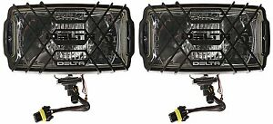 Delta Lights 850h Series 9 X 5 H i d Driving Lights Chrome With Stone Guard