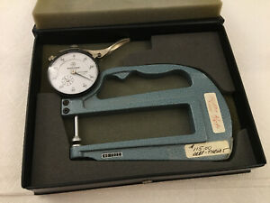Mitutoyo 3 Dial 2416 7322 Dial And Flat Anvil Thickness Gauge Calipers Japan