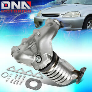 For 1996 2000 Honda Civic Del Sol S D16y7 Engine Catalytic Converter Manifold