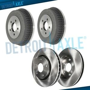 Front Disc Brake Rotors Rear Drum For 1996 1999 2000 Chrysler Dodge Plymouth