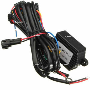 New Dc 12v Drl Daytime Running Light Dimmer Dimming Relay Control Switch Harness