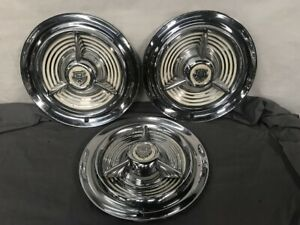 1953 1954 1955 Oldsmobile Olds Fiesta Hubcaps Wheel Covers 3