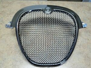 Jaguar S Type Mesh Grille Chrome Surround 2004 2007 Models With Badge