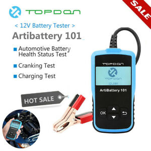 12v Load Battery Tester Digital Car Auto Battery Analyzer Agm Gel Topdon Ab101