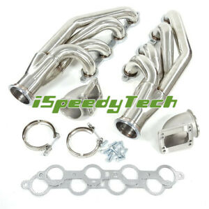 Turbo Exhaust Manifold Headers Elbows T3 T4 To 3 0 V Band For Ls1ls2ls6 4 8l5 3