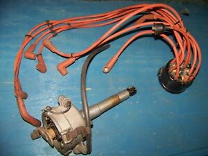 Vintage Mallory Dual point Distributor Ford 49 53 Flathead V 8 Detroit Mi Tag