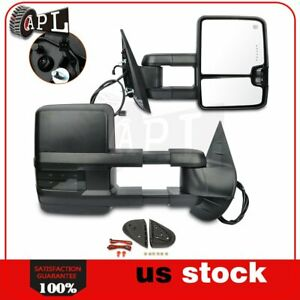 Power Heated Signal Clearance Light Tow Mirrors For 2007 13 Silverado Sierra