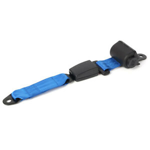 2pcs Blue Retractable Seat Belt Kit Extender Buckle Clip Universal For Car