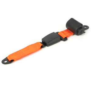 2 Point Retractable Car Orange Seat Belt Kit Extender Buckle Clip For Toyota