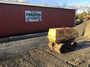 2012 Stone Tr34 Bulldog Diesel Trench Roller Only 1000 Hours W Remote
