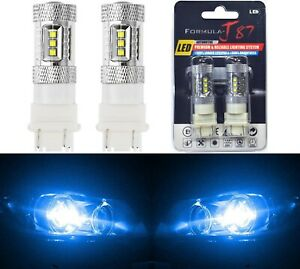 Led Light 80w 3157 Blue 10000k Two Bulbs Front Turn Signal Replace Show Color