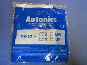 1 Autonics Pr12 4 Dp Proximity Sensor Inductive Round New In Package