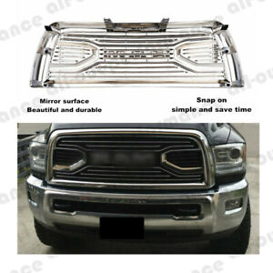 For 2013 2018 Dodge Ram 2500 3500 Chrome Big Horn Front Hood Bumper Grill Grille