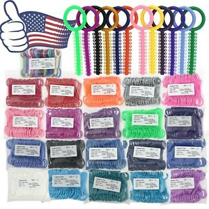 Us Dental Orthodontic Elastic Ligature O Ring Stick Ties Rubber Bands 1040pc bag