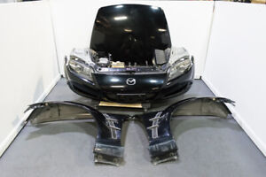 Jdm Used Black Se3p Mazda Rx 8 Front Clip With Hid Headlights For 2003 2008 Rx8