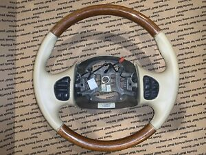 Ford Leather Wood Steering Wheel Excursion F 250 F 350 Navigators