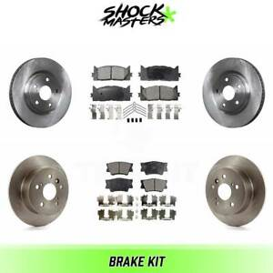 Front Rear Ceramic Brake Pads Rotors Kit For 2007 2011 Toyota Camry