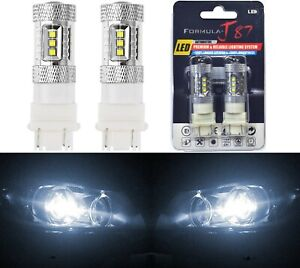 Led Light 80w 4157 White 5000k Two Bulbs Front Turn Signal Replacement Upgrade