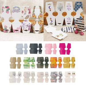 100x Necklace Hang Tag Card Fodable Earrings Bracelet Display Hang Cards Tag