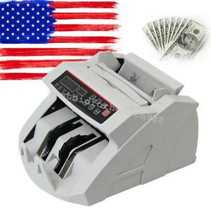 Led Money Bill Counter Counting Machine Counterfeit Detector Uv Mg Cash