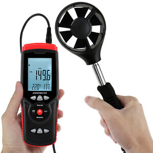 Wind Temperature Humidity Anemometer Datalogger Measurement Air Speed Tester