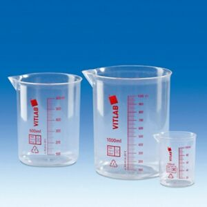 Brandtech V60703 Griffin Beakers Pmp Printed Red Scale Not Raised 50ml