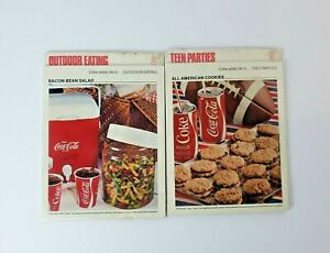 Vintage Coca-Cola Sealed Recipe Cards Great Outdoor Eating #4 & Teen Parties #5