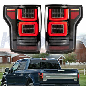 Full Led Sequential Tail Lights R l Rear Lamps Assembly For 2015 2019 Ford F150
