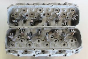 Gm 14011077 Big Block Chevy Rectangle Aluminum Cylinder Heads Solid Snowflake