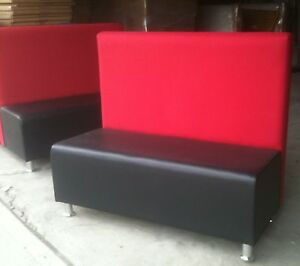 Restaurant Booth With Two Color Single double Booths Furniture 4 Sale