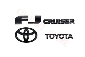 Toyota Fj Cruiser 2007 2015 Rear Door Emblem Logo Badge Nameplate Gloss Black
