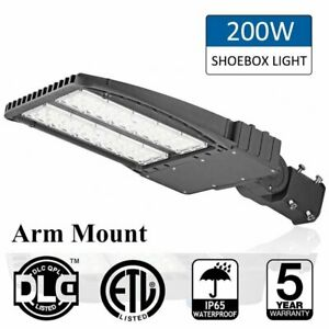 200w Led Shoebox Light Adjustable Angle Street Light Parking Lot Lamp 24000lm Us