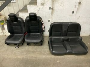 2010 2015 Chevrolet Camaro Ss Leather Seats Front Rear Convertible Black Oem
