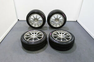 Jdm Advan Racing Rs Wheels And Tires In Silver Finish 17x8 45 Offset 5x100