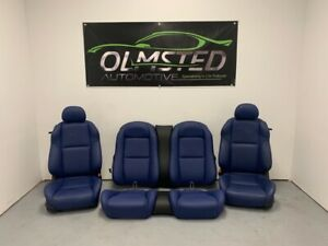 04 05 06 Pontiac Gto Front Rear Complete Power Seats Leather Blue Oem Gm 28k