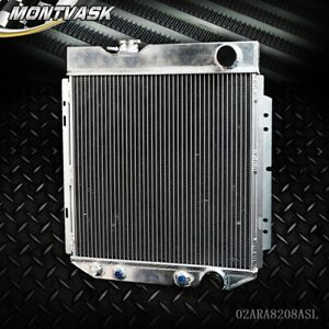 Gplus Aluminum Radiator For Ford Mustang shelby V8 L6 Mt at 1964 1966 Silver