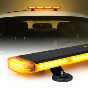 Xprite 22 54led Amber Strobe Light Bar Traffic Advisor For 12v Snow Plow Yellow