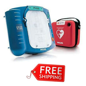 Philips Heartstart Home Aed Defibrillator Slim Carry Case 9v Batteries Required