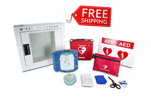 Philips Heartstart Onsite Aed Defibrillator Business Package Slim Aed Carry Case