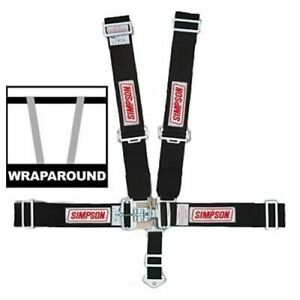Simpson Safety 29064bk 5 Point Latch Individual Type Complete Harness Wraparound