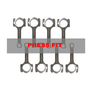 Set Of 8 Reconditioned Press Fit Pin Connecting Rods For Chevrolet Gen Iii Ls