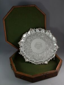 An Impressive Georgian Silver Salver Or Tray By Paul Storr London 1829