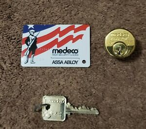 Medeco High Security Brass 1 Mortise Cylinder With A Patriot Keyway