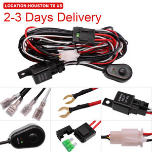Us Location Wiring Harness Switch Kit Strobe For Led Work Light Bar Fuse Relay