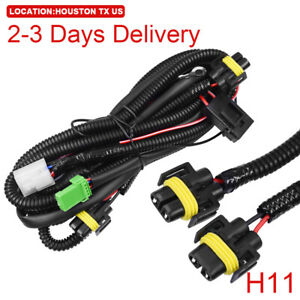 Us Location Fog Light Wiring Harness Switch Kit H11 Led Work Light Honda Nissan