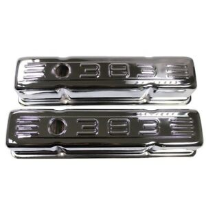 Steel Tall Valve Covers Chrome For 1958 1986 Sbc Chevy Small Block 283 305 327