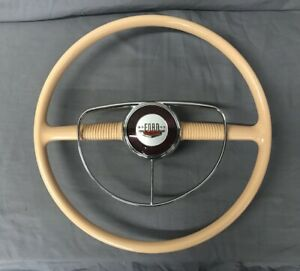 1949 1950 Ford Steering Wheel And Horn Ring Used